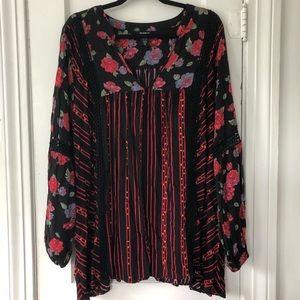 Torrid Boho Flowy Tunic Floral Print Size 3X